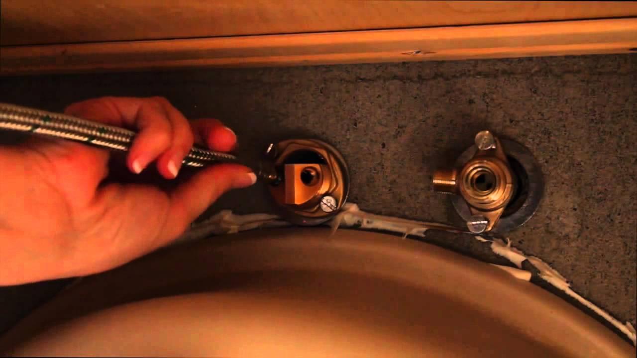 Hansgrohe Solaris Widespread Bathroom Faucet Installation Youtube