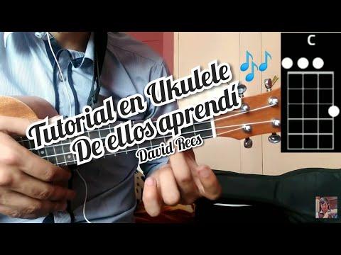 De Ellos Aprendí David Rees Tutorial Como Tocar La Canción En Ukulele 🎶