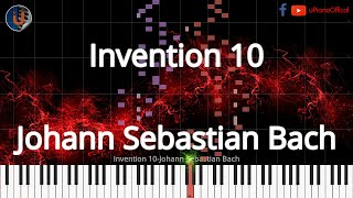 🎹 Invention 10 - Synthesia Piano Tutorial 📄PDF Sheet