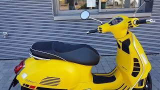 Yellow Vespa GTS 125 Super Sport ABS E4 2018