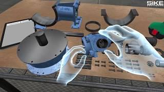 поршневой насос: сборка насоса в VR тренажере SIKE