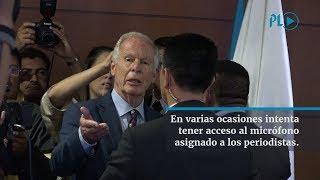 Durante 26 minutos el alcalde Álvaro Arzú escuchó a Iván Velásquez y Thelma Aldana | Prensa Libre