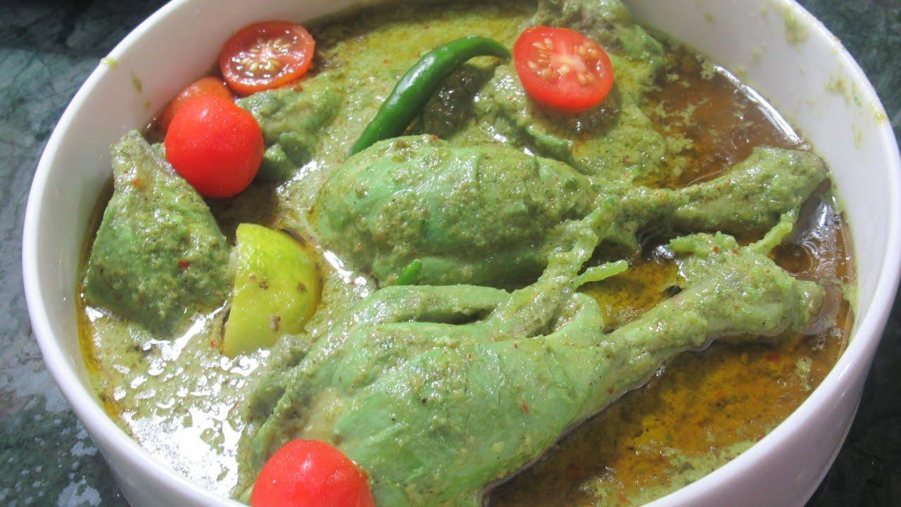 Hariyali Chicken   Chicken Gravy   Foodland Mumbai