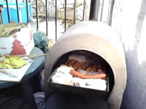 Cocinando en horno a le a port til 100 chileno youtube - Como cocinar en un horno de lena ...