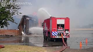 Grote brand verwoest boerderij Zijldijk
