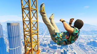 GTA 5 Jumps/Falls Ragdolls Compilation #9 (Euphoria physics - Funny Moments)