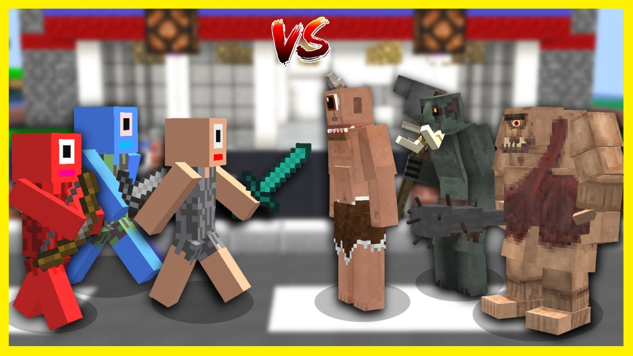 İNSAN TEPEGÖZLER TEPEGÖZ ÇETESİNE SALDIRDI! 😱 - Minecraft