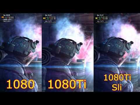 Сравнение 1080 Vs 1080 Ti Vs 1080 Ti Sli QHD 1440p