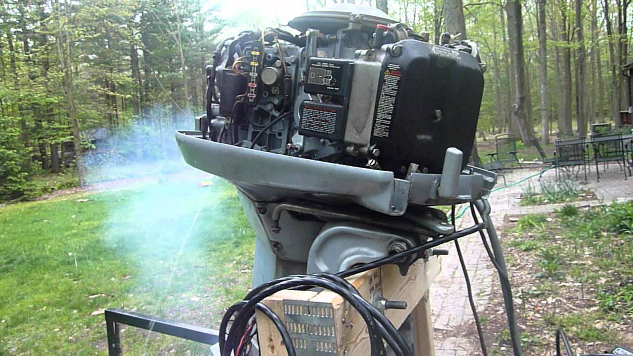 1984 Evinrude 90 HP V4 - First Fire