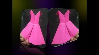 Paper Frock for beginners, kids How to make paper dress  crafts for kids  homemade easy crafts  Holi
