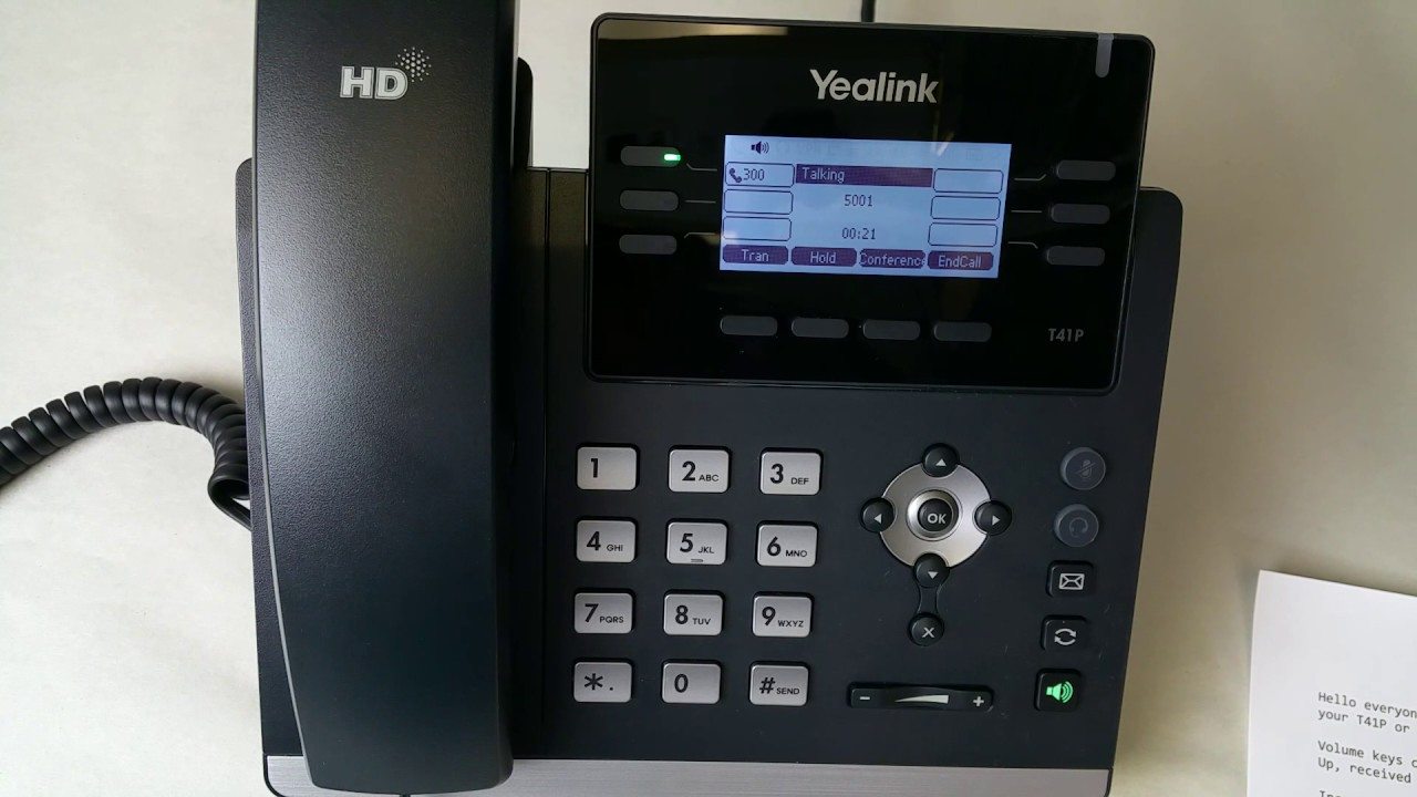 Yealink T41p T42g User Guide Voicemail Access Setting Your