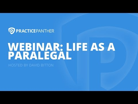 (Webinar) Life As A Paralegal with David Bitton