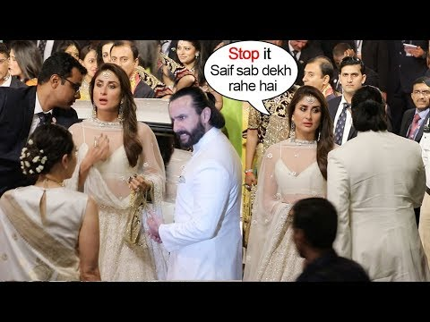 Saif Ali Khan Again FIGHTS With Kareena Kapoor In Front of Karishma At Ambani's WEDDING Ceremony
