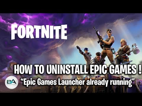 How To Uninstall Epic Games ! | Epic Games Launcher Already Running GLITCH! [ SEASON 9 ]