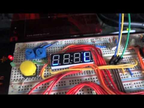 Raspberry Pi Shift Registers And 7 Seg Display on