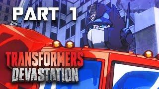 Transformers Devastation Walkthrough Part 1 - Chapter 1 MEGATRON (Transformers PC Gameplay 60fps)