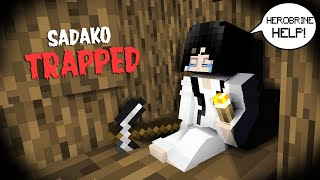 SADAKO TRAPPED 100 DAYS IN MINECRAFT GAME - MINECRAFT ANIMATION
