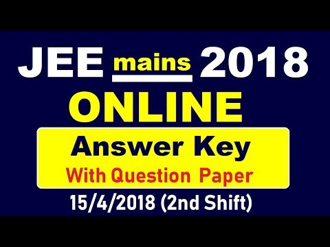 Jee mains Online 2018   Answer Key with Q. Paper   15/4/2018(2 nd shift)   Chemistry