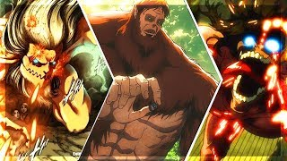 TOP 10 STRONGEST TITANS 2! - Attack On Titan 「  REPLAY」