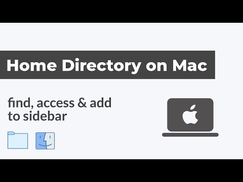 How to Find Home Directory & Add to Finder Sidebar on Mac OS, Macbook