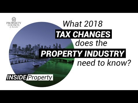 2018 Tax Changes The Property Industry Needs To Know About