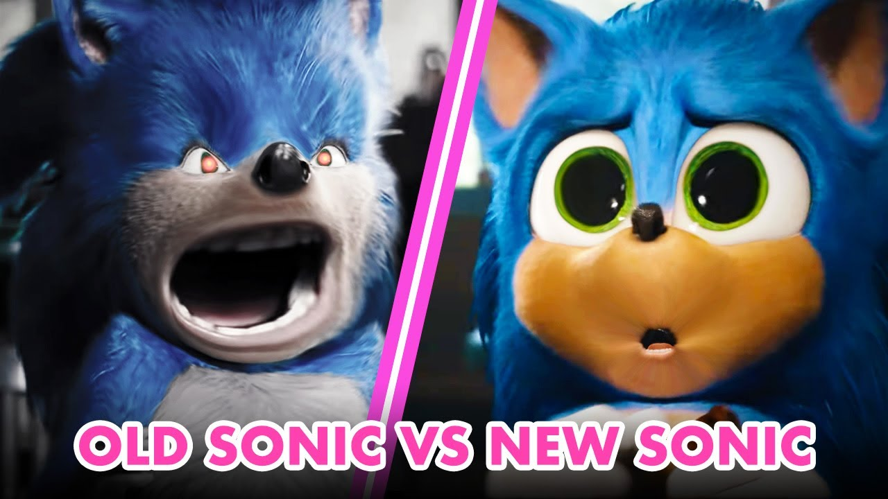Vfx Artists Compare Old Sonic Vs New Sonic Design Sonic The Hedgehog Movie Youtube