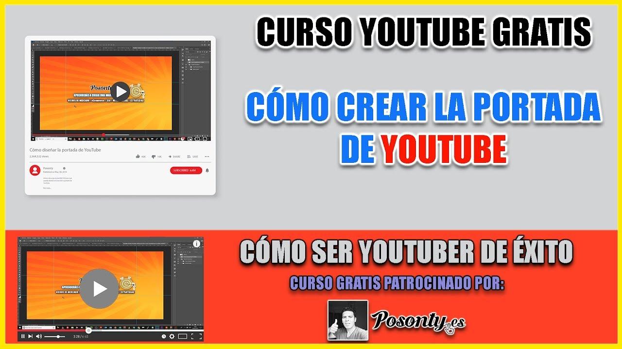 Plantilla Psd De La Portada Para Youtube Con Medidas Exactas
