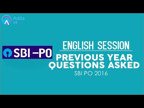 SBI PO 2017 | Previous Year Questions Asked In SBI PO | Eng | Online Coaching for SBI,IBPS,BANK PO