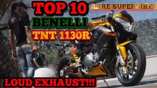 TOP 10 BENELLI TNT 1130 R SOUND EXHAUST LOUD RARE SUPER BIKE!!!