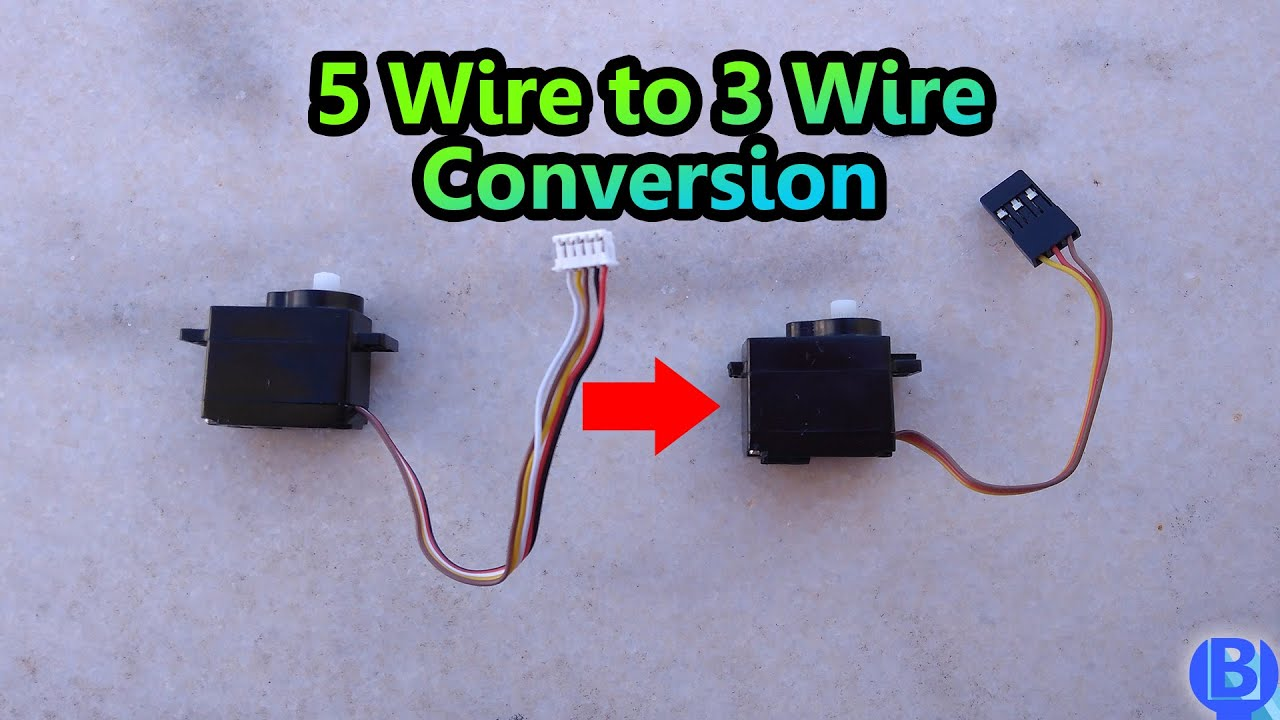 Converting 5 Wire Servo To 3 Wire