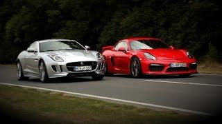 Porsche Cayman GT4 vs. Jaguar F-Type AWD S - Test - Vergleich