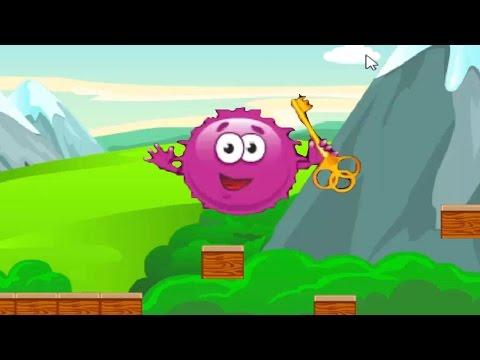 Приключение красного пушистого шарика игра