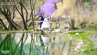 Цветной дым на свадьбе