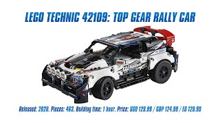 LEGO Technic 42109: Top Gear Rally Car: In-depth Review, Speed Build & Parts List [4K]