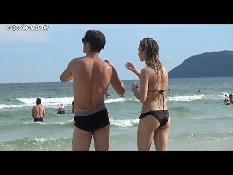 Bãi Sao Phú Quốc ngắm em gái tắm biển | Em gái miền tây du lịch tự túc