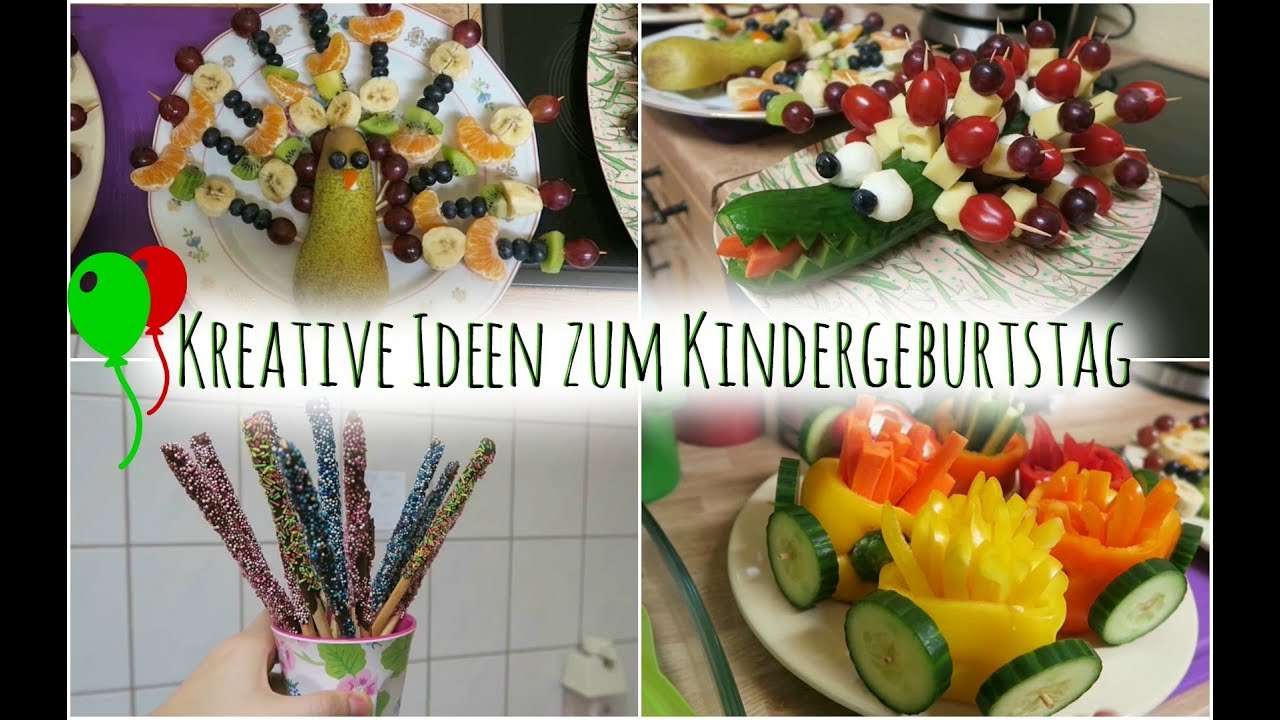 tolle ideen f r den kindergeburtstag essen mitgebsel youtube. Black Bedroom Furniture Sets. Home Design Ideas