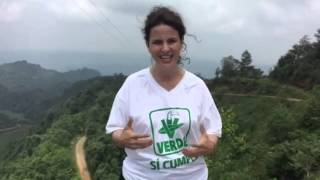Nancy de la Sierra desde la Sierra de Chichiquila