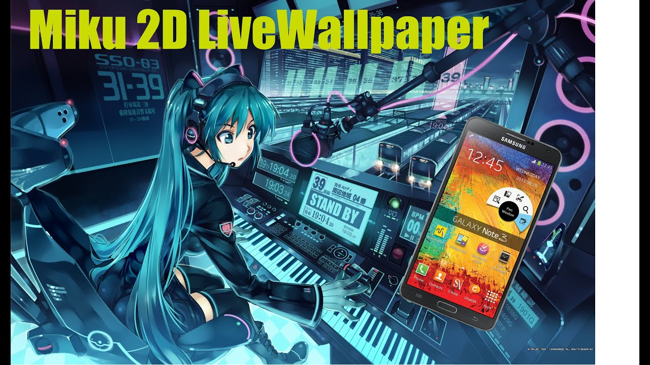 fondo de pantalla animado miku 2d livewallpaper