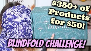 Blindfolded Unboxing Challenge! Fab Fit Fun Winter 2017! WORTH $350+?? | Jen Luvs Reviews