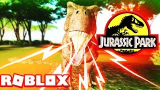 ROBLOX JURASSIC PARK NEW! - DINOSAURS (INO SORNA)-Kid Friendly Gameplay