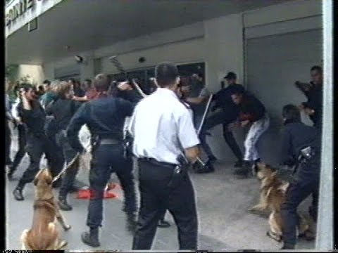 police vs german neonazis in Luxembourg