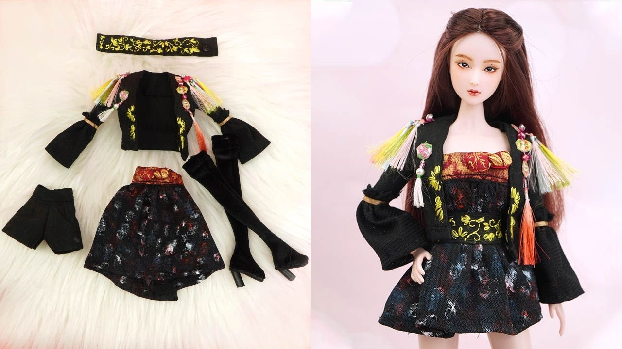 "10 DIY Barbie Hacks To Look Like Ji-Soo ""How You Like That"" ~ Barbie Doll Makeover"