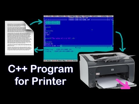 How to print hard copy of C, C++ program's output | C++ program for printer device