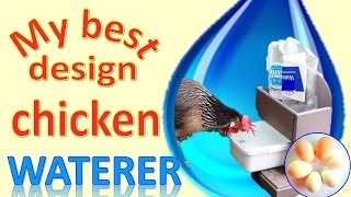 The most brilliant idea for an easy-care chicken waterer - DIY from these ideas