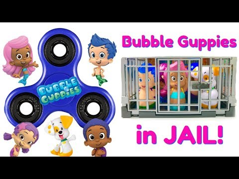 Nick Jr.  Bubble Guppies Go to Jail Magical Fidget Spinners Learn Colors | Fizzy Fun Toys