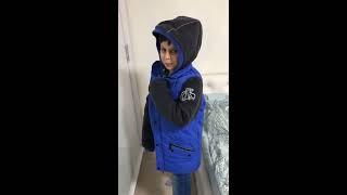 Обзор синяя куртка на мальчика Фаберлик и носки