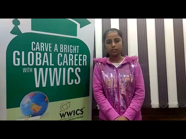 Our happy client  Prabhjot sharing her experience with WWICS