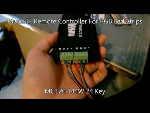 24 Key Music IR Remote Controller For RGB LED Strips MU120