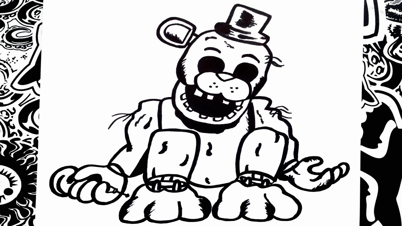 Como Dibujar A Golden Freddy De Five Nights At Freddys How To Draw Golden Freddy