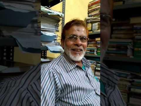 Arif Jamali from Nagpur apni ghazal sunate huye Taryaq office me